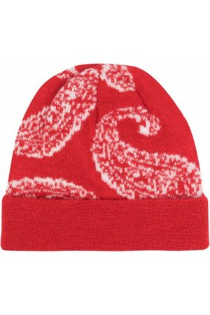 424 Cherry- Patterned Knitted Beanie