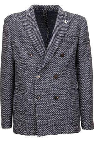 Lardini Double-Breasted Tailored Blazer