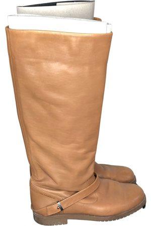 Jil Sander Leather cowboy boots