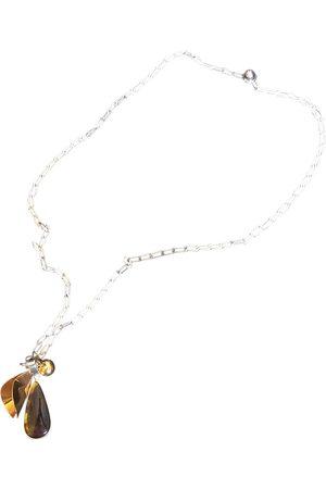 Céline Silver gilt long necklace