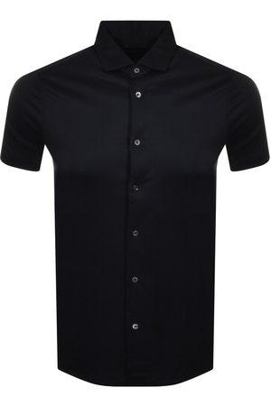 Armani Emporio Short Sleeved Shirt Navy