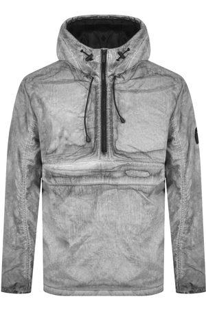 Lyle & Scott Hooded Acid Wash Jacket Grey