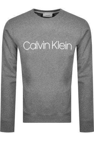 Calvin Klein Logo Crew Neck Sweatshirt Grey