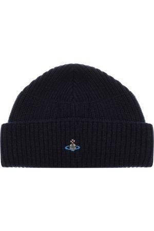 Vivienne Westwood Knit Beanie Hat Navy