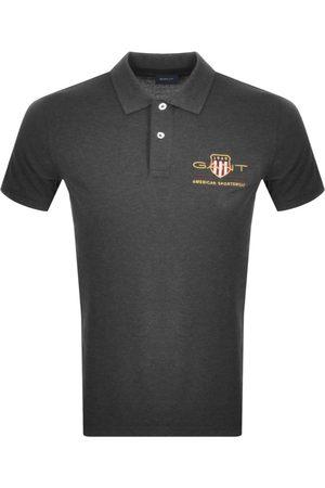 GANT Retro Archive Shield Polo T Shirt Grey
