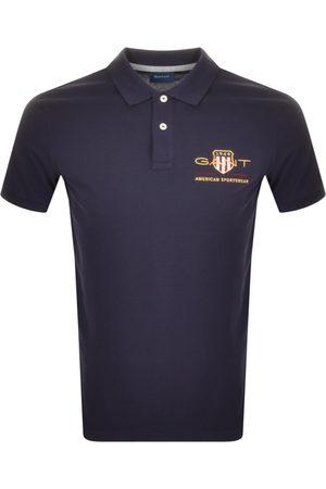 GANT Retro Archive Shield Polo T Shirt Navy