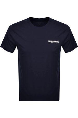 True Religion Small Arch Logo T Shirt Navy