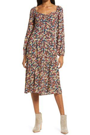 Lost + Wander Women Midi Dresses - Women's Paradise Valley Long Sleeve Midi Dress