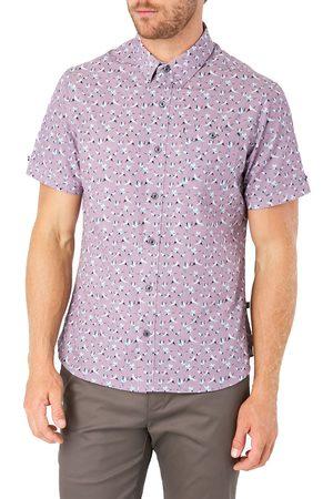 7 Diamonds Men's Kailua Sunrise Print Short Sleeve Button-Up Shirt
