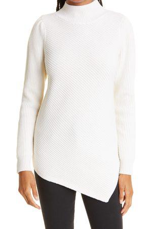 Milly Women's Asymmetric Wool & Cashmere Turtleneck Sweater