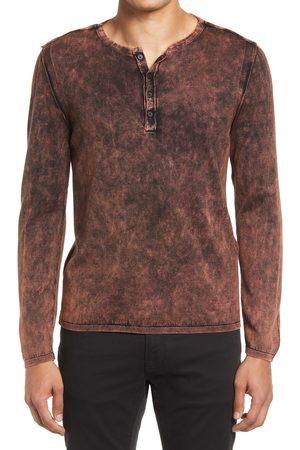 John Varvatos Men's Shelby Marble Wash Henley T-Shirt