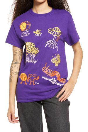 Petals and Peacocks Women T-shirts - Women's Positive Nature Cotton Graphic Tee