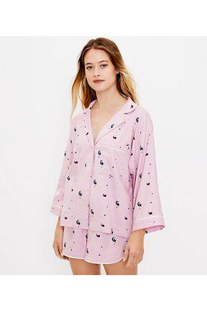Loft Women Pajamas - Starry Cat Pajama Top