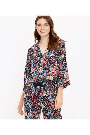 Loft Women Pajamas - Paisley Pajama Top