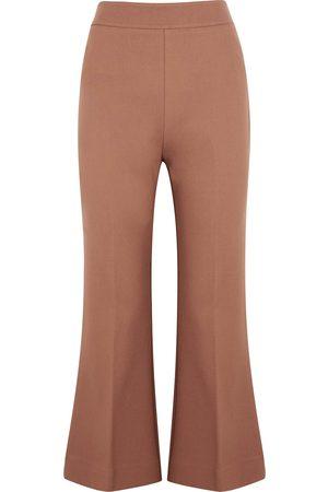 Victoria, Victoria Beckham Flared-leg stretch-cady trousers