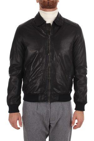 andrea d'amico Leather Jackets Men Pelle