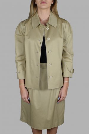 Dolce & Gabbana Women's luxury suit - Dolce & Gabbana beige suit jacket and skirt