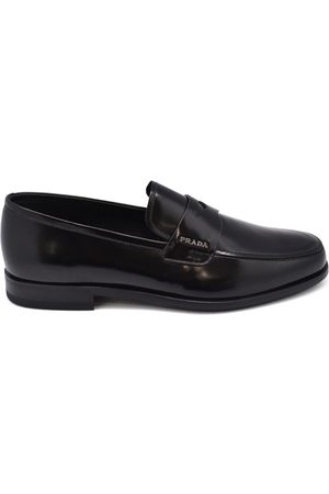 Prada Luxury shoes for men - mocassins in smooth black leather