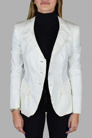 Prada Women's luxury jacket - white blazer with scalloped collar