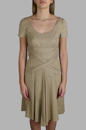 Prada Luxury dress for women - beige cotton dress