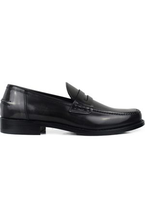 Alberto Luxury shoes for men - Grey shiny leather loafers
