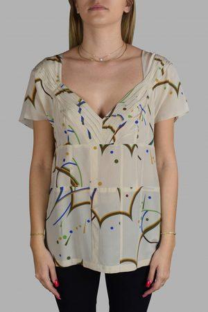 Prada Women's luxury t-shirt - beige silk top