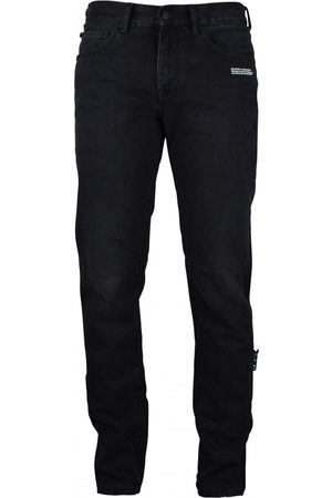 OFF-WHITE Men's luxury jean - Black jean with green patch