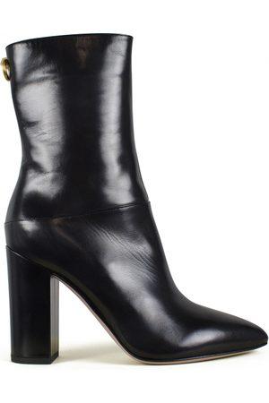 VALENTINO GARAVANI Luxury shoes for women - Valentino black leather boots high heel