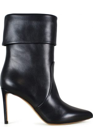 Francesco Russo Women's luxury ankle boots - black leather ankle boots