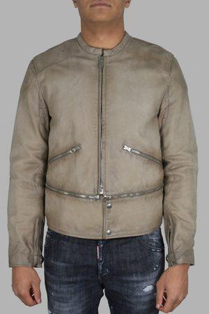 Golden Goose Men's designer jacket - Golden Goose jacket in beige leather