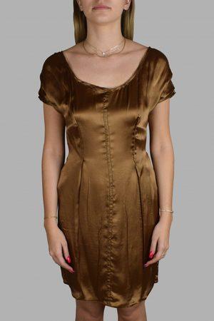 Prada Women Dresses - Luxury dress for women - brown fluid dress