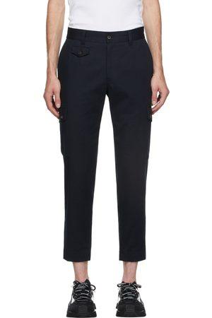 Dolce & Gabbana Men Cargo Pants - Navy Street Patchwork Cotton Cargo Pants