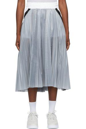 Nike Women Pleated Skirts - Grey & Sacai Edition Pleat Skirt