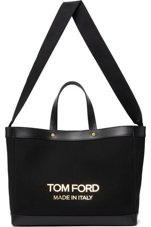Tom Ford Black Small T Screw Shopping Tote
