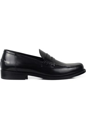 Alberto Luxury shoes for men - Black shiny leather moccasins