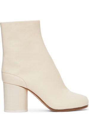 Maison Margiela White Vintage Mid Heel Tabi Boots