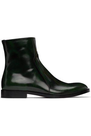 Maison Margiela Men Boots - Green Waxed Boots