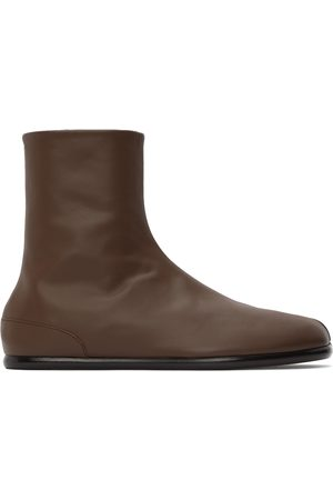 Maison Margiela Brown Tabi Flat Boots