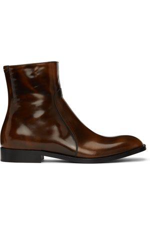 Maison Margiela Brown Waxed Boots