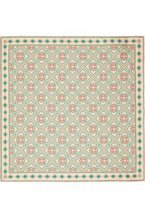 Casablanca Men Scarves - Beige Silk Monogram Scarf
