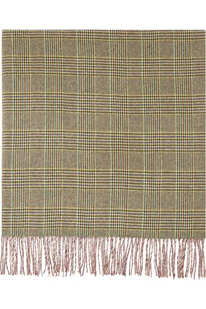 JUNYA WATANABE Men Scarves - Multicolor Wool Check Houndstooth Scarf