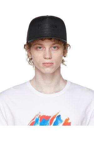 Alexander McQueen Men Caps - Black Graffiti Baseball Cap