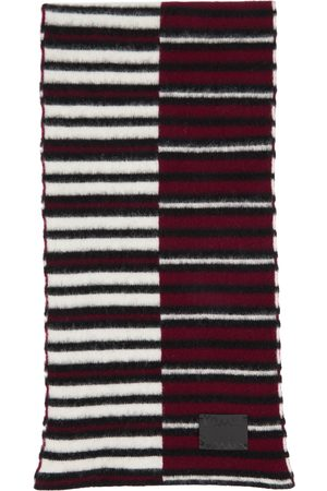 Paul Smith Burgundy & Off-White Inverted Stripe Scarf