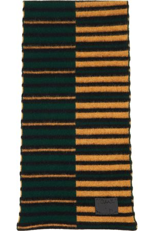 Paul Smith Green & Brown Inverted Stripe Scarf