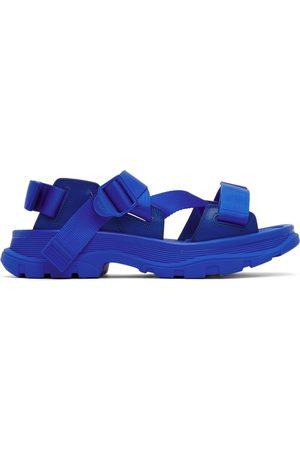 Alexander McQueen Blue Tread Sandals