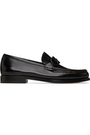 Salvatore Ferragamo Black Rolo 10 Mocassin Loafers