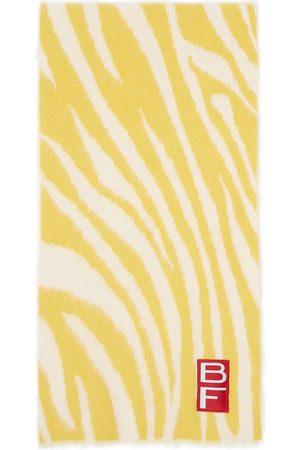 BY FAR Yellow Alpaca Zebra Scarf