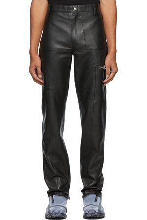 HELIOT EMIL Black Leather Trousers