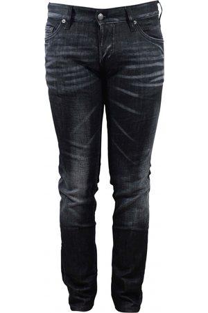 Dsquared2 Men's designer jeans - black faded Slim Jean