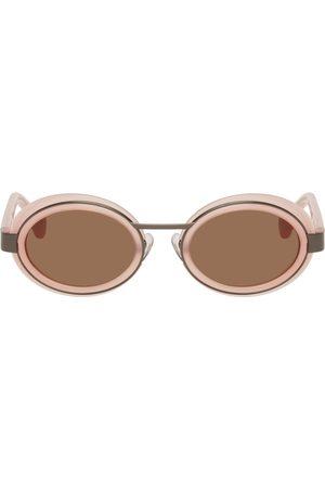 Dries Van Noten Women Round - Pink & Gunmetal Linda Farrow Edition Round Sunglasses